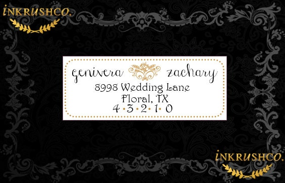 Wedding Invitation Stickers: Address Labels // Return Labels // Envelope Seals