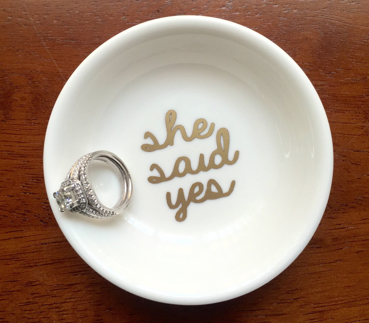 she said yes ring dish ring dish personalized engagement