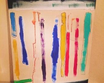 "Contemporary Art acrylic on canvas ""Scale #1"""