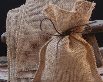 Set of 20 Burlap favor bags