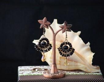 Beaded earrings  with Goldfield hooks.