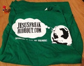 Jesusfreakhideout.com Guinea Pig Green Tee