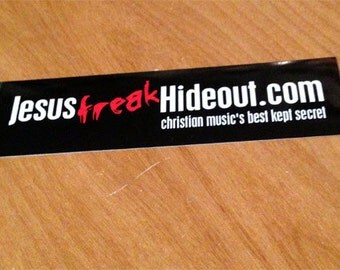 "JFH ""Slogan"" Rectangle Vinyl Stickers (2)"