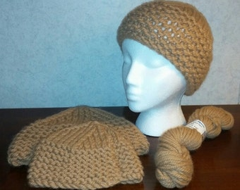 Hand Knit Alpaca Hats Using Polar Ice's Yarn