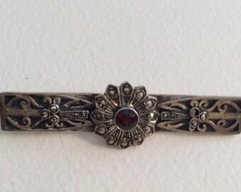 Vintage sterling silver flower , Vintage Jewelry, Vintage pin, Vintage Brooch