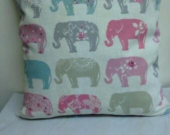 Shabby Chic feel Elephant Design Cushion