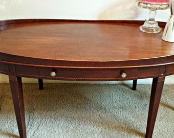vintage mersman restored coffee table