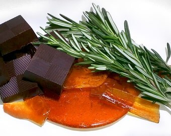 Rosemary & Crushed Caramel Brittles made with fine Belgian 70% Dark Chocolate