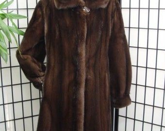 Brand new Canadian brown mink fur jacket coat for women woman size all custom made