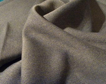 Oatmeal tweed-like suiting fabric by the metre