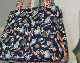 Alice in Wonderland Melody Expandable Tote