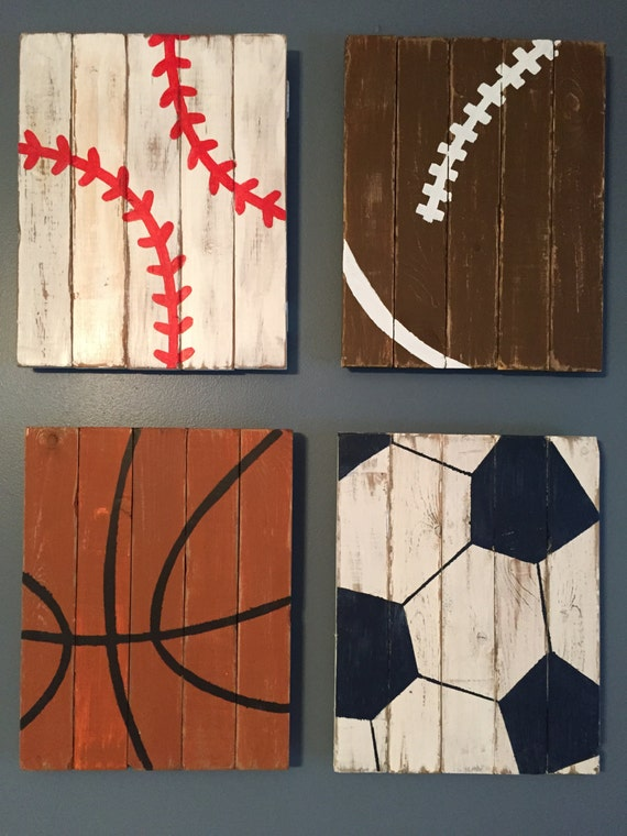 Sports decor baby boy nursery boys room art by for Room decor etsy