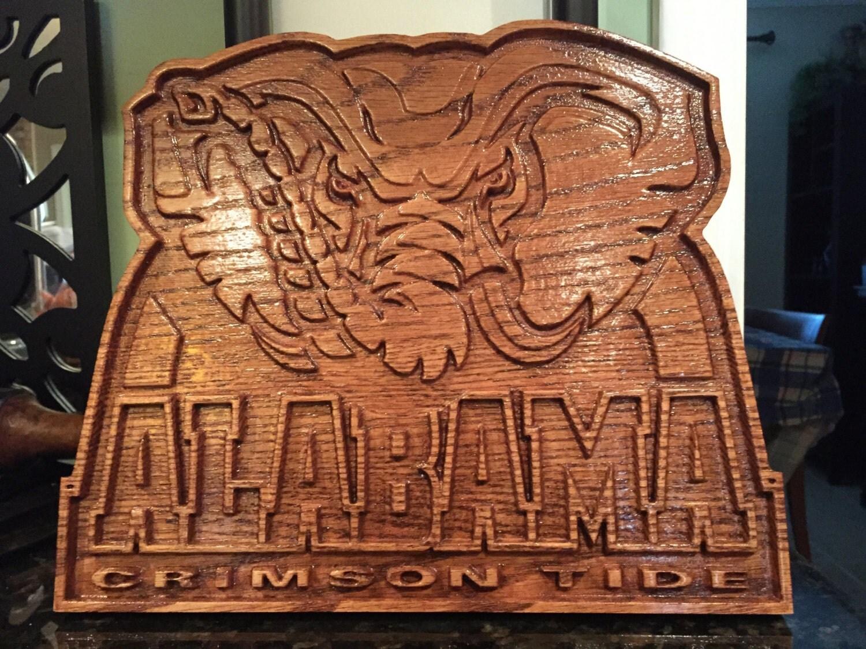 alabama l phant logo plaque murale en 3d. Black Bedroom Furniture Sets. Home Design Ideas