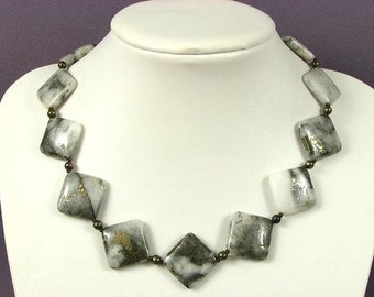 Necklace Pyrite Quartz 26mm Diamonds 925 SPECIAL NSQP3232