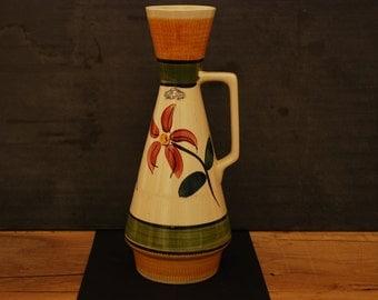Ceramic vase circa 1959 stamped West Germany N 272-35,Eduard Bay, BAY Keramik Krug-Vase