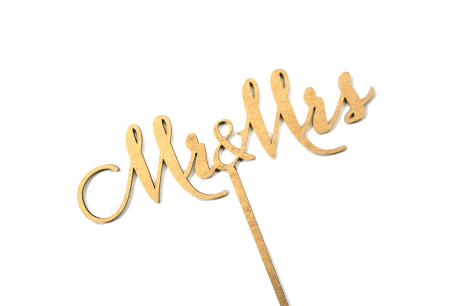 Gold calligraphy mr and mrs table sign carolyna font elegant