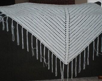 White Triangular Shawl