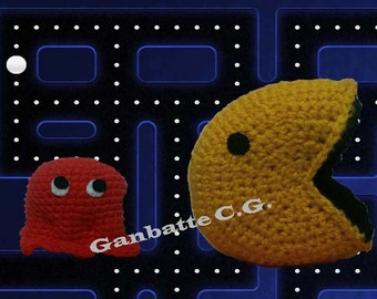 Collection Amigurumi Pac-man and Ghost
