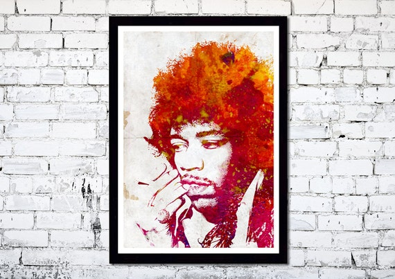 Jimi Hendrix  // A3 Poster Art // Abstract /// Grunge Art // Wall Art print // Unique Art