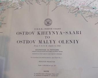 U.S.S.R. - North Coast - Ostrov Kheynya-Saari to Ostrov Malyy Oleniy - Nautical Chart