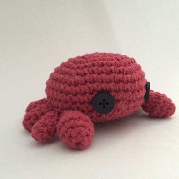Crochet Amigurumi Crab : Crochet Amigurumi Crab Stuffed Animal Toy Plush by ...