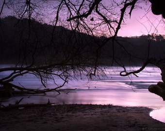 Lavender Sunrise over the River Fine Art Print - Nature Photography - Frame not Included