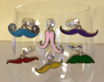 Mustache Wine Charms-Mustache Glass-Mustache Gift