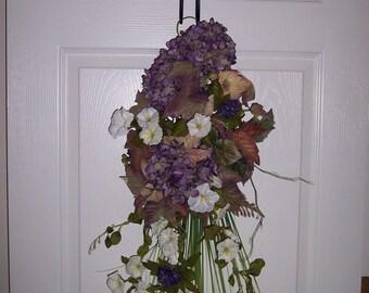 Swag, Spring Wreath/Swag, Purple Hydrangea Swag, Victoria Garden Swag Wreath