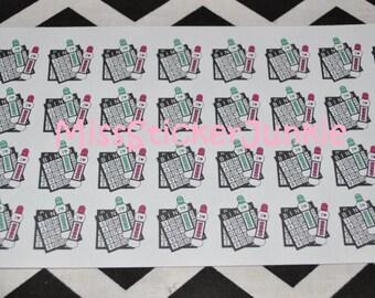 Bingo Night I Love Bingo Stickers for Erin Condren Life Planner Plum Paper Planner
