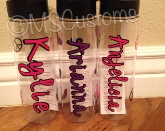 3 pack of personalized water bottles