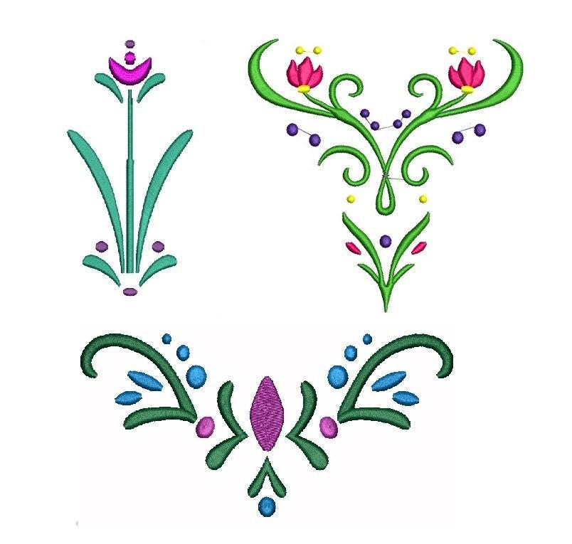 Machine Embroidery Design Frozen