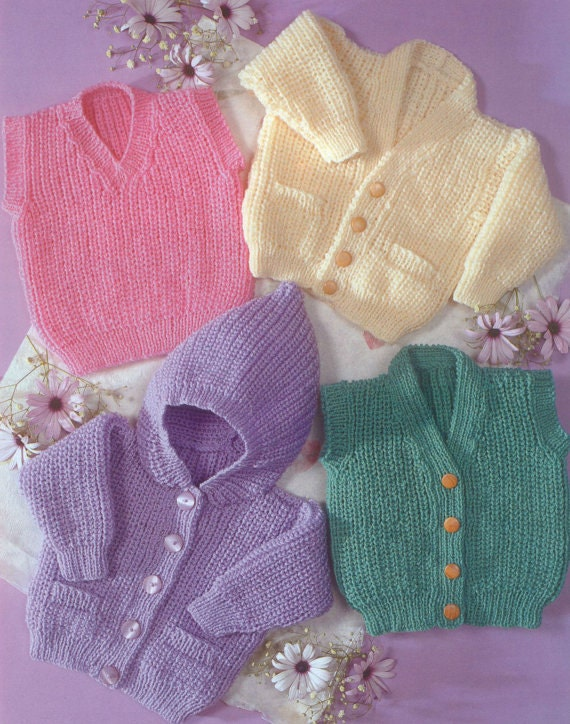 Knit Baby Cardigan and Sweater Vintage Pattern toddler
