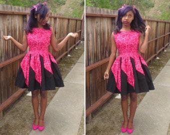 Sleeveless Raspberry Dress