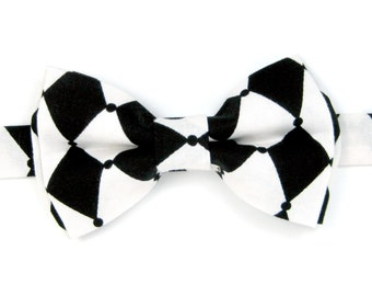 Black and white bow Tie,Halloween bow ties for Men,Toddlers ,Boys