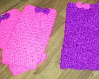Handmade Crochet Children's Funky Fun Leg Warmers