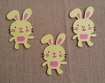 Easter Bunny die cut set of 3