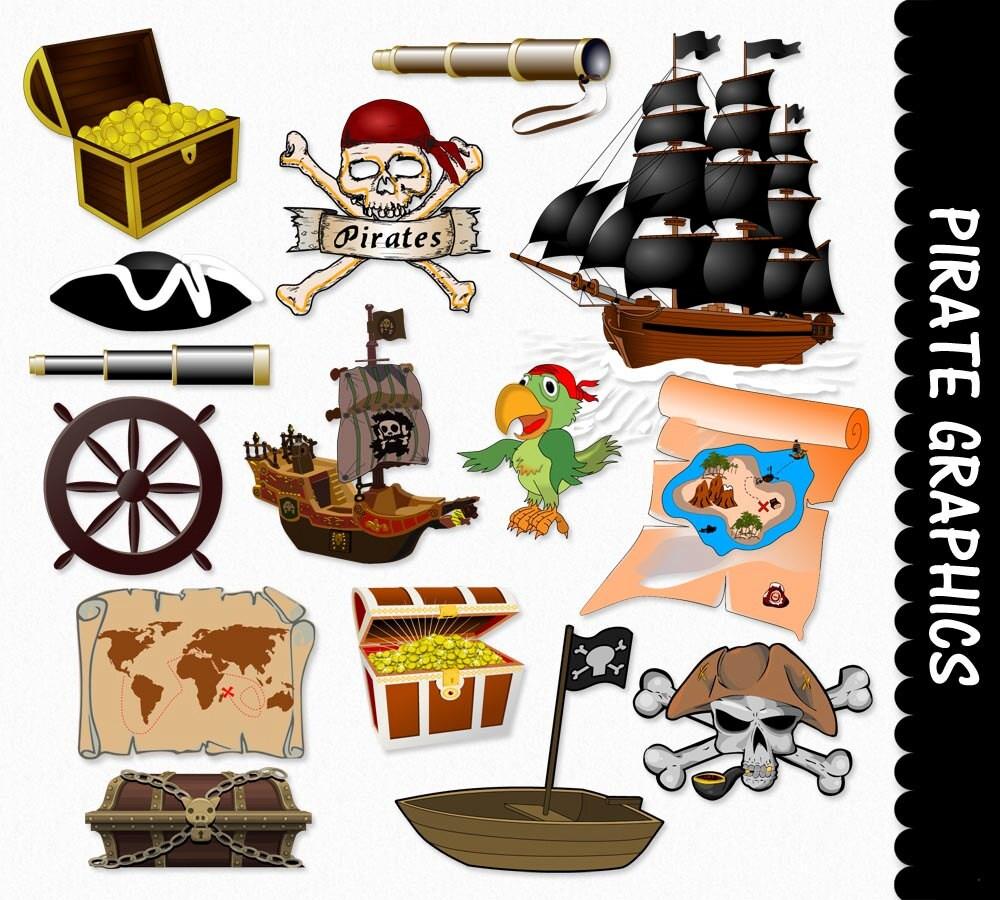 pirate clip art graphics pirates clipart scrapbook ship boat