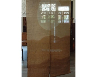 "traditional linen noren, door way curtain. (AA2) 35""W x 59""L"