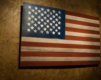 All wood American Flag