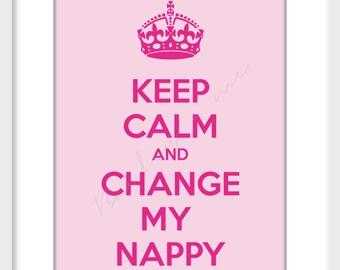 Calm Nappy Girl Art Print