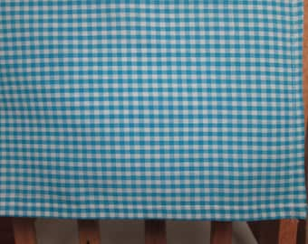 Baby Boy Turquoise Blue Gingham Check Cotton Receiving Blanket. FREE SHIPPING!