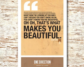 One Direction- Lyric Quote 11x17""