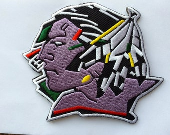 North Dakota Fighting Sioux  3.5 x 2.5  inch patch iron on or sew on