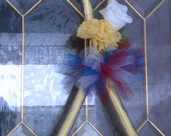 Patriotic Yellow Support Ribbon for Door or Wall