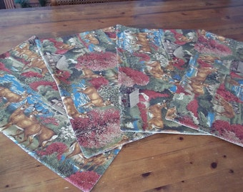 Lodge Theme Placemats (4) CP40 Shipping included