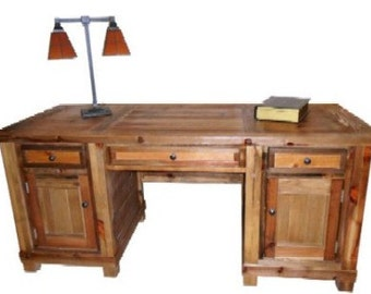 Reclaimed Salvaged Solid Wood Desk, Vintage and Rustic, VMW191