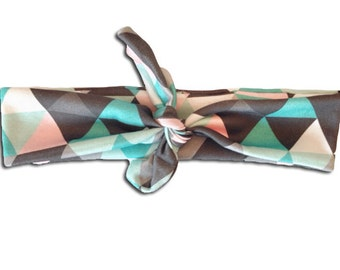 Modern Pastel Geometric Triangles Head Wrap Head Band