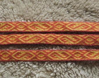 Tablet weaving braid, Mammen variant, 100% linen, Tablet weaving, Card weaving,