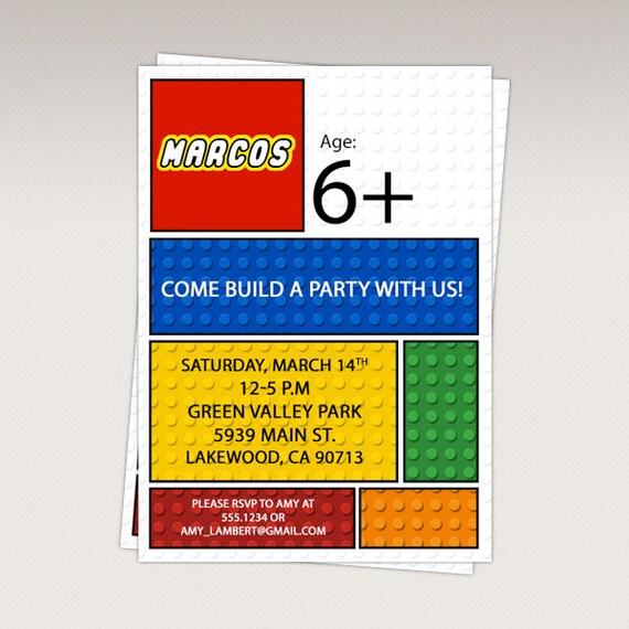 Printable Lego Birthday Invitations was awesome invitations ideas