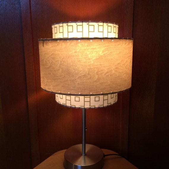 mid century modern style fiberglass lamp shade 3t 13 0. Black Bedroom Furniture Sets. Home Design Ideas